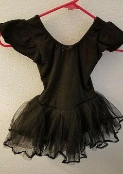Dancina Toddler Ballet Tutu Dress Flutter Sleeve Front Linin