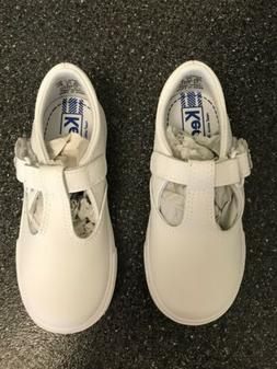 Keds Toddler Girl Leather T-Strap Sneaker 8.5M