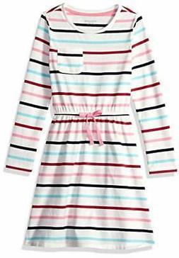 Amazon Essentials Toddler Girls' Long-Sleeve Elastic, White,