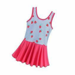 BAOHULU Toddler Girls Swimsuit One Piece Cute Floral Dress S
