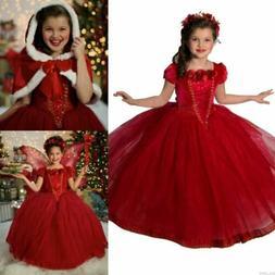 Toddler Kids Girls Dresses Costume Snow White Princess Party