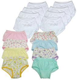 Toddler Underwear Girls Panties 8-Pack Baby Briefs Soft Cott