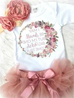 US Newborn Kids Baby Girl Outfits Clothes Tops Romper Bodysu