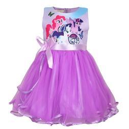 US STOCK Girls  Kids My Little Pony Pink Puple Party Birthda
