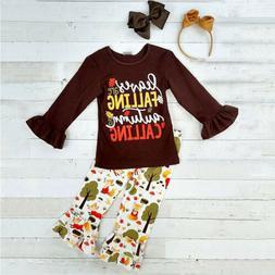 US Toddler Kid Baby Girls Tops T-shirt Pants Leggings Autumn