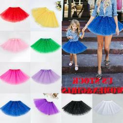 US Women Girl Princess Tulle Tutu Skirt Adult Kid Ballet Dan