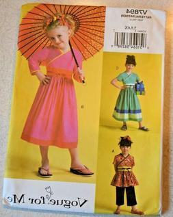Vogue for Me #V7894 Pattern Toddler Dress Top Pants Size 5-6