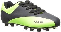 Vizari Vigo FG Soccer Shoe ,Black/Green,4.5 M US Big Kid