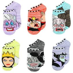 Disney Villains Girls Teen Womens 6-pack Socks DV007GNS
