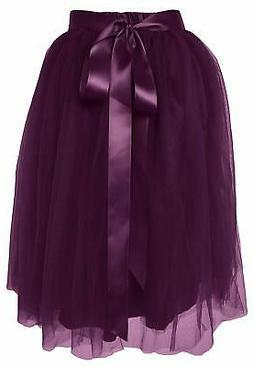 Dancina Women's Layered Tutu Skirt, Knee-Length Tulle Sati