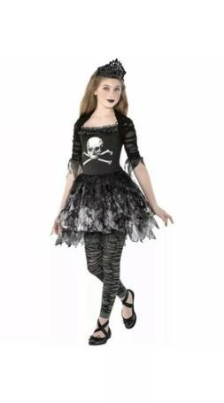 Zombie Ballerina Dress Halloween Costume for Girls Size Medi